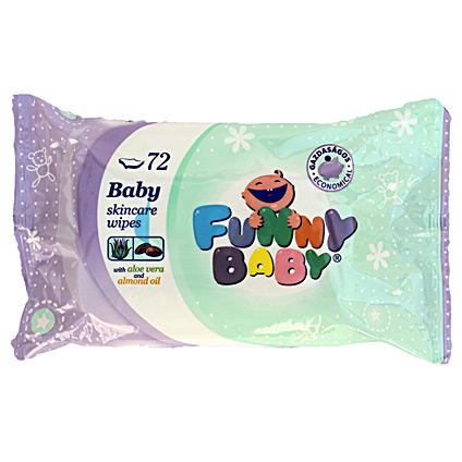 Funny Baby 72 lapos törlőkendő