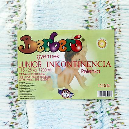 Gyermek inkontinencia pelenka