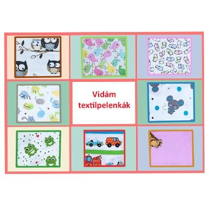 Színes textilek változatos mintával