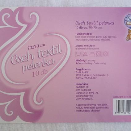 Cseh textil pelenka 10 db-os
