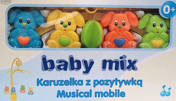 Műanyag zenélő-forgó